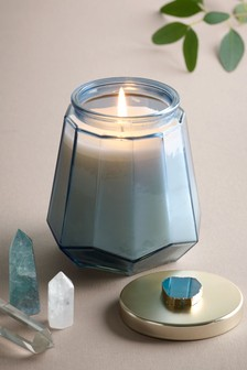 Blue Aquamarine Candle