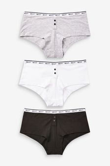 Logo Boy Short Knickers 3 Pack