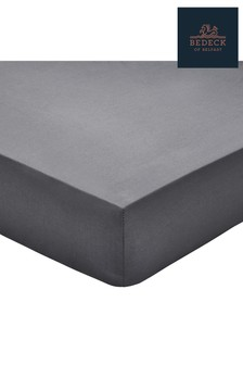 Bedeck of Belfast Cotton Percale Plain Dye Fitted Sheet
