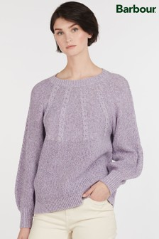 Barbour® Heritage Lilac Marled Victoria Cotton Jumper