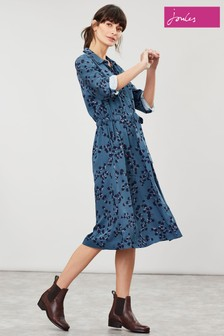 Joules Green Winslet Teal Blossom Dress