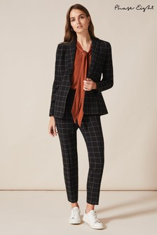 Phase Eight Black Toni Check Suit Trousers
