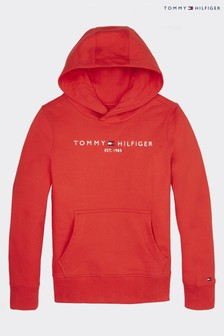 Tommy Hilfiger Red Essential Logo Hoody