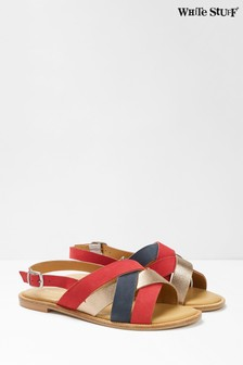 White Stuff Red Orla Strappy Sandals
