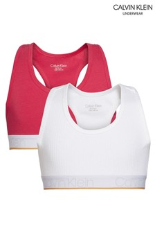 Calvin Klein Pink CK Rib Bralettes Two Pack