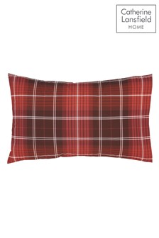 Set of 2 Brushed Cotton Tartan Check Pillowcases by Catherine Lansfield