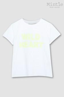 Mintie by Mint Velvet Ivory Heart Sequin T-Shirt