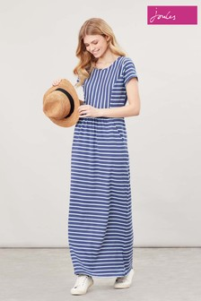 Joules Blue Trudy Jersey Maxi Dress