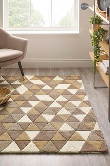 Triangle Honeycomb Geo Wool Rug by Origin Rugs