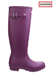 Hunter Purple Original Tall Wellington Boots
