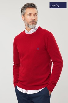 Joules Red Redmond Mini Waffle Jarvis Jumper