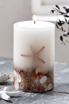 Sea Salt Pillar Candle