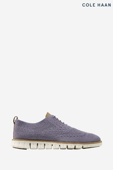 Cole Haan Grey Zerogrand Stitchlite Oxford Lace-Up Shoes