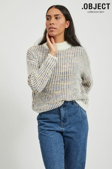 OBJECT Cream Multicolour Marled Cita Jumper