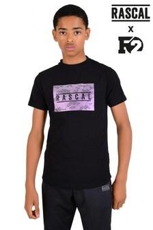 Rascal Black Iridescent Camo T-Shirt