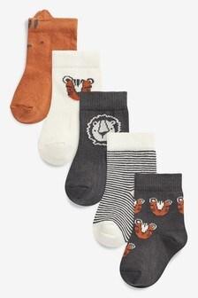 5 Pack Safari Socks (Younger)