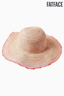 FatFace Red Multi Stripe Sequin Hat