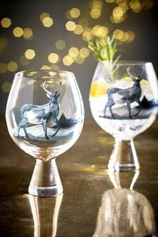 Aspen Stag Set of 2 Gin Glasses