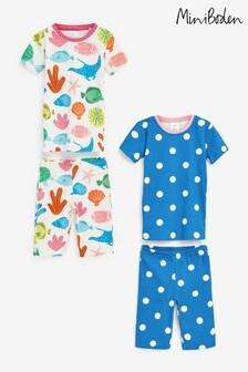 Boden Multi Snug Short Pyjamas Twin Pack