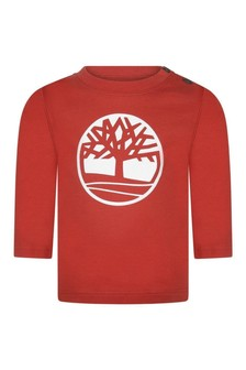 Baby Boys Red Organic Cotton Jersey T-Shirt