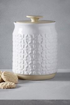 Embossed Flower Treat Jar