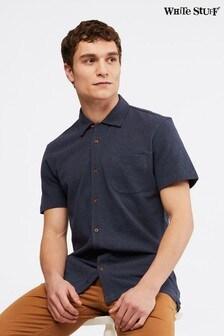 White Stuff Blue Hillside Pique Jersey Shirt
