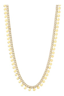 Oliver Bonas Yellow Mirai Enamel Detail Chain Necklace