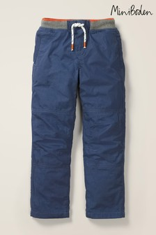Mini Boden Navy Cosy Lined Mariner Trousers