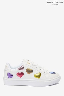 Kurt Geiger London White Mini Lane Love Sneakers