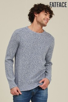FatFace Chambray Burgess Crew Jumper