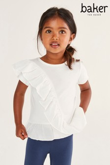Baker by Ted Baker Girls Ruffle Front Top