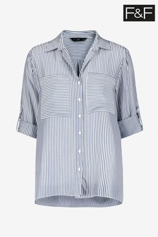 F&F Stripe Blue Shirt