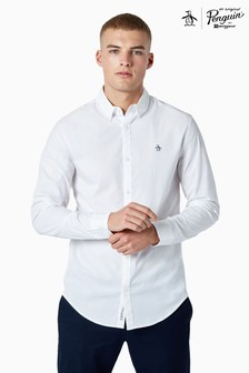 Original Penguin® White Long Sleeved Poplin Shirt