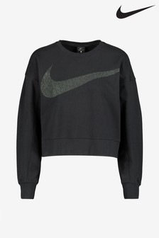 Nike Dri-FIT Get Fit Fleece Sparkle Training Sweat Top