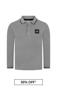 Boys Cotton Pique Poloshirt