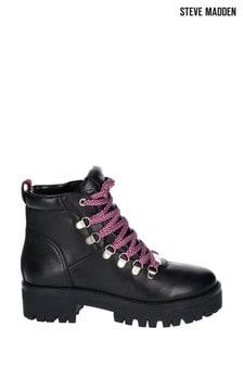 Steve Madden Black Boomer Ankle Boots
