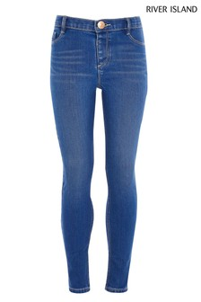 River Island Blue Bright Rocket Clean Molly Jeans