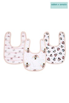 aden + anais essentials Minnie Rainbows Snap Bibs Three Pack