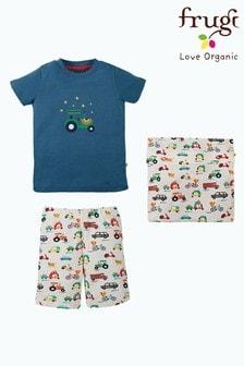 Frugi Organic Cotton Vehicles 3 Piece Pyjama Set