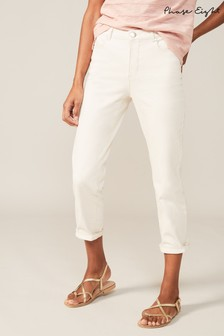Phase Eight Cream Ramona Straight Leg Jeans