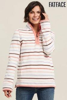 FatFace Blue Airlie Multi Stripe Sweater
