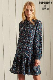Superdry Floral High Neck Mini Dress
