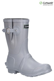 Cotswold Grey Windsor Short Wellington Boots