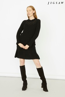 Jigsaw Black Cable Detail Flippy Dress