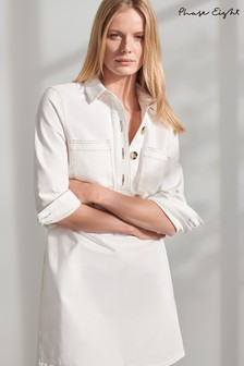 Phase Eight White Kirsty Denim Dress
