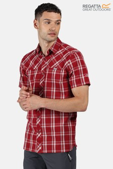 Regatta Red Honshu V Short Sleeve Shirt