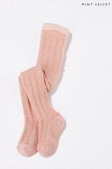 Mint Velvet Pink Rose Denmark Glitter Tights