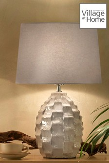 Elena Ceramic Textured Table Lamp by Village At Home