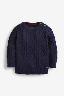 Cable Knit Crew Jumper (3mths-7yrs)