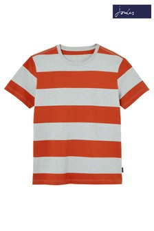 Joules Grey Boathouse Stripe T-Shirt
